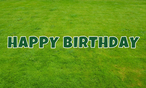 HAPPY BIRTHDAY Letter Set -Hunter Green
