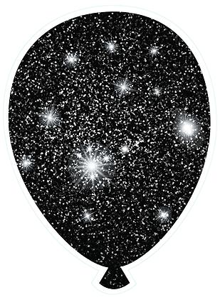 Balloon: Black Sparkle