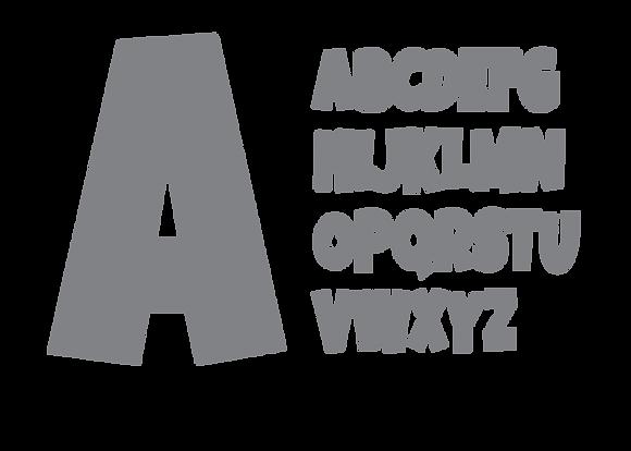 Alphabet - Gray