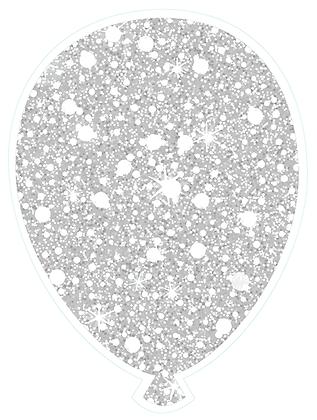 Balloon: White Sparkle