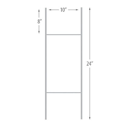 """10""""x24"""" H Stakes - 50 pieces per pack"""