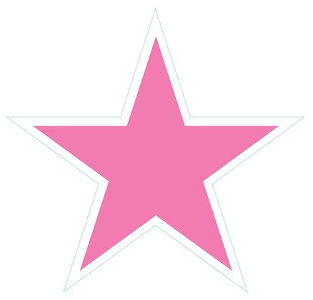 Star (Sharp Edge): Light Pink