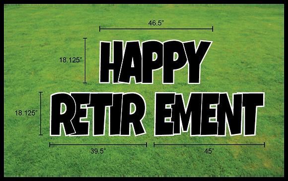 "HAPPY RETIREMENT 18"" EZ Set 3pc - Luckiest Guy"