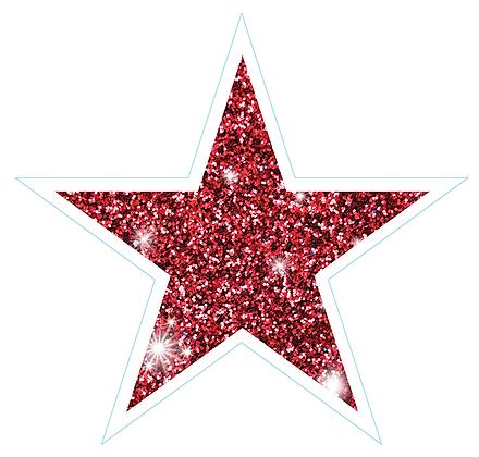 Star (Sharp Edge): Red Sparkle