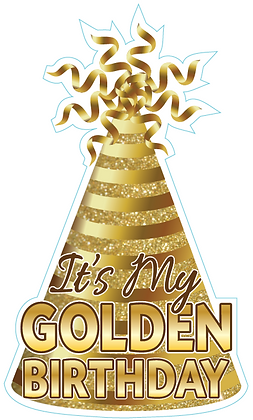 Party Hat: Golden Birthday