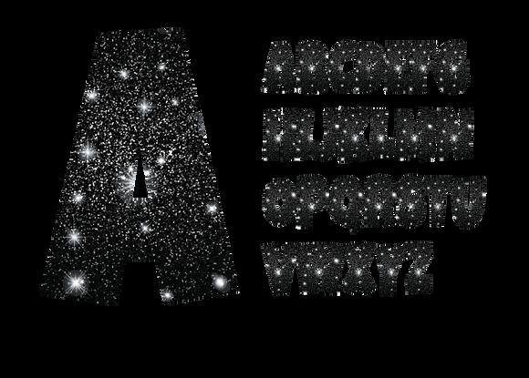 Letter - Black Sparkle