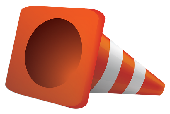 Tipped Construction Cone Yard Sign