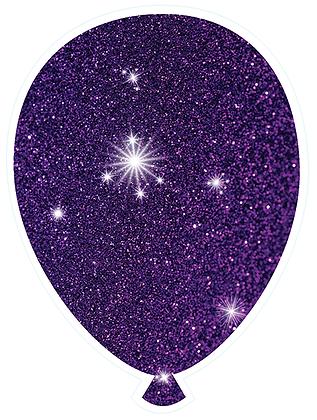 Balloon: Deep Purple Sparkle