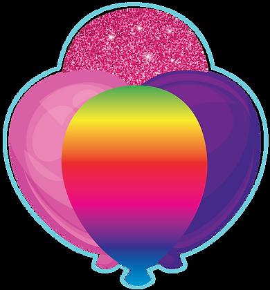 Balloon Cluster: Pink, Purple, Rainbow