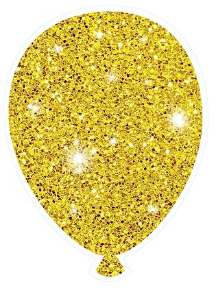 Balloon: Gold Sparkle