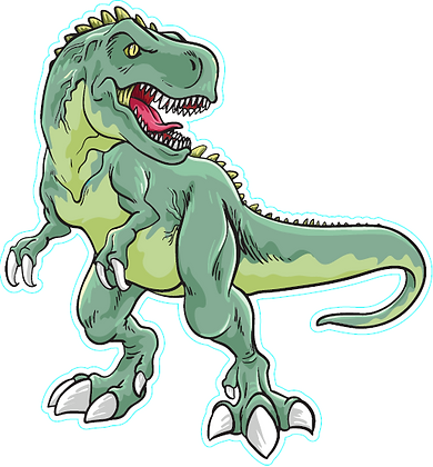 Dinosaur_Scary Green