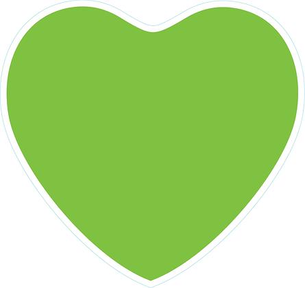 Heart_Lime Green