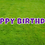 Thumbnail: HAPPY BIRTHDAY Letter Set - Bright Purple