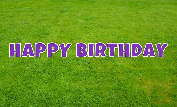 HAPPY BIRTHDAY Letter Set - Bright Purple