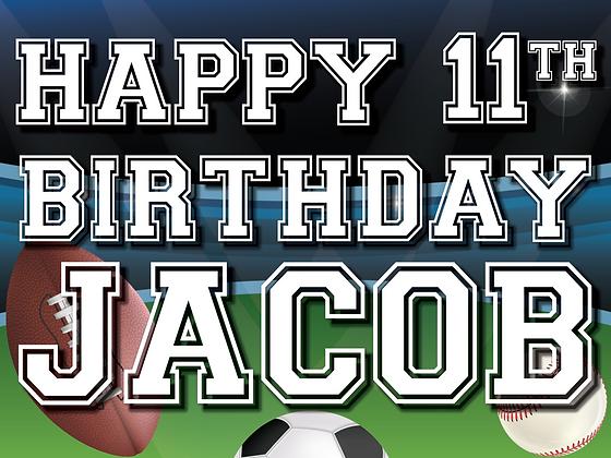 Happy Birthday Yard Sign - Sports