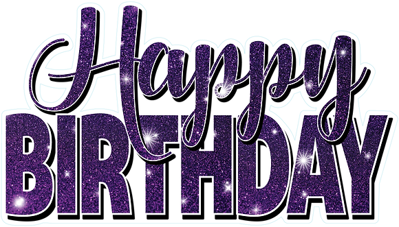 Happy Birthday Mini Set - Purple Sparkle