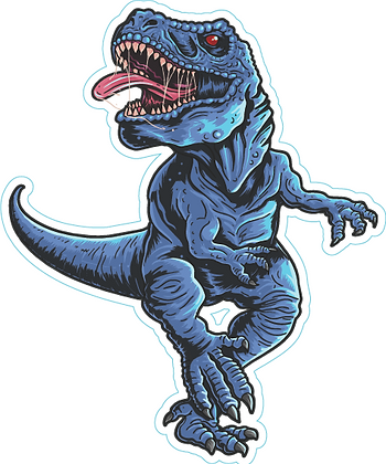Dinosaur_Scary Blue