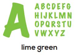 Alphabet - Lime Green