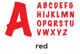 Alphabet - Bright Red