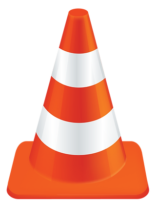 Construction Cone Yard Sign