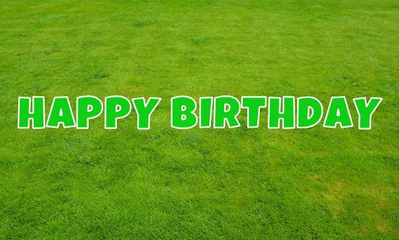 HAPPY BIRTHDAY Letter Set -Lime Green