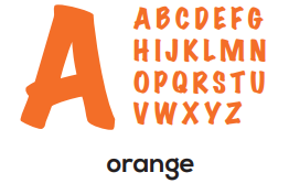 Alphabet - Orange