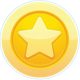 Gold Star in Circle