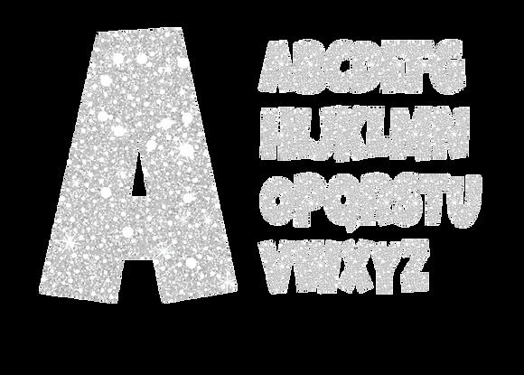 Alphabet - White Sparkle/Silver