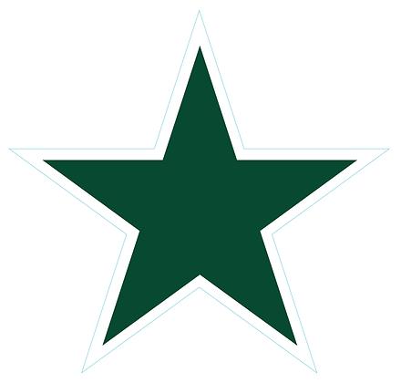 Star (Sharp Edge): Dark Green