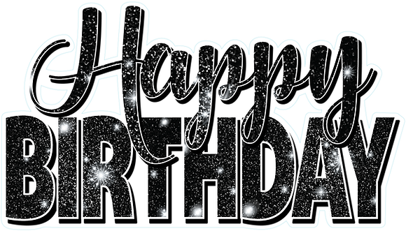 Happy Birthday Mini Set - Black Sparkle