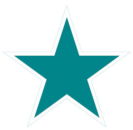 Star (Sharp Edge): Teal