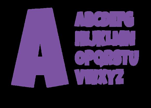 Alphabet - Bright Purple