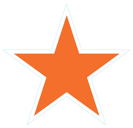 Star (Sharp Edge): Orange