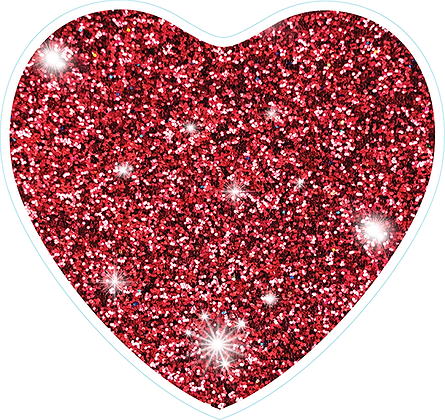 Heart_Maroon Sparkle