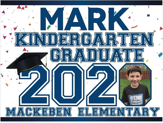 Yard Sign, Mackeben K Name with photo