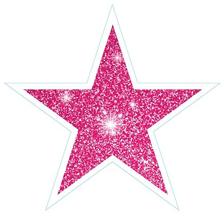 Star (Sharp Edge): Pink Sparkle