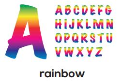 Alphabet - Rainbow