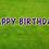 Thumbnail: HAPPY BIRTHDAY Letter Set - Deep Purple