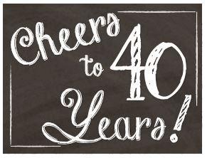 Happy Birthday Yard Sign - 40th Cheers