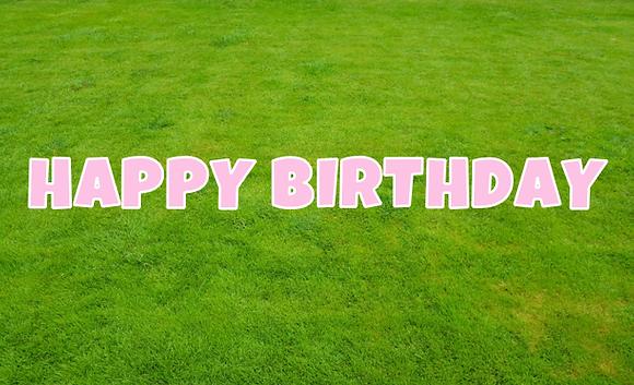 HAPPY BIRTHDAY Letter Set -Light Pink