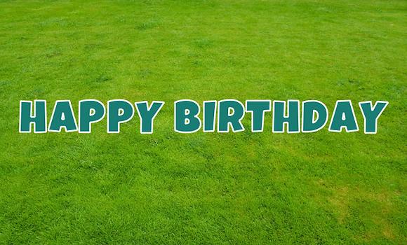 HAPPY BIRTHDAY Letter Set -Myrtle Green