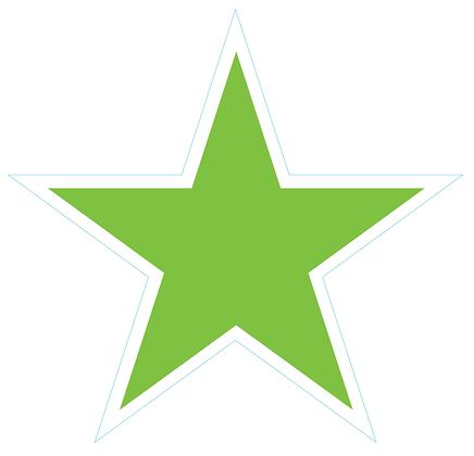 Star (Sharp Edge): Lime Green