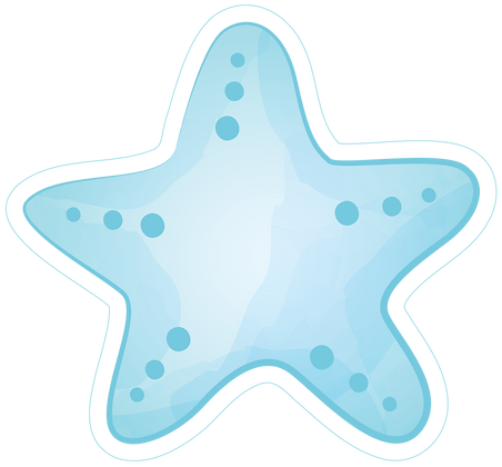 Starfish Star - Blue