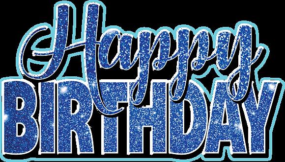 Happy Birthday Mini Set - Blue Sparkle