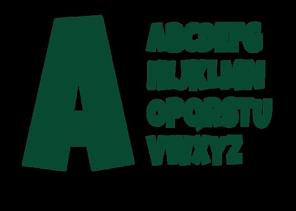 Alphabet -Hunter Green