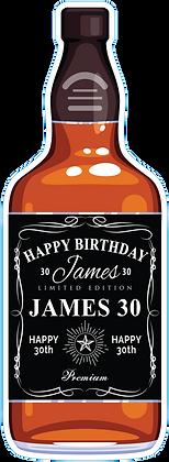 Whiskey Bottle Yard Sign - Personalized