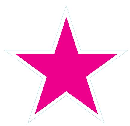 Star (Sharp Edge): Bright Pink