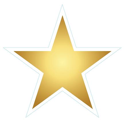 Star (Sharp Edge): Gold