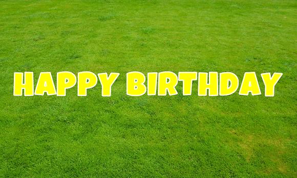 HAPPY BIRTHDAY Letter Set - Yellow
