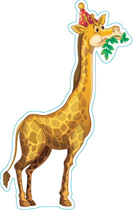 Giraffe with Party Hat